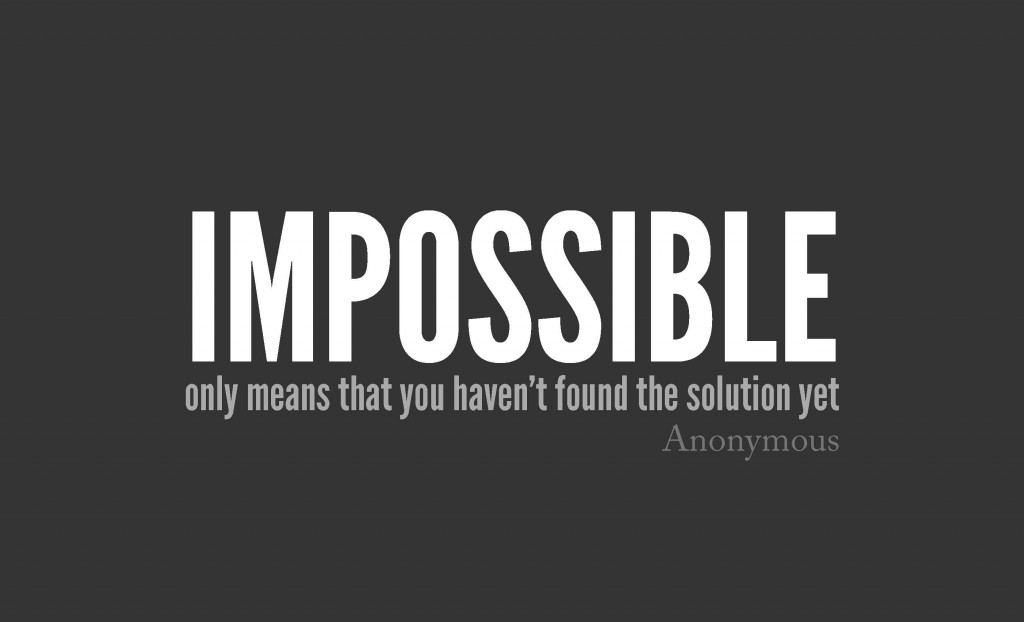 Impossible means